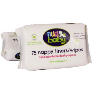 Dual-purpose liners/wipes
